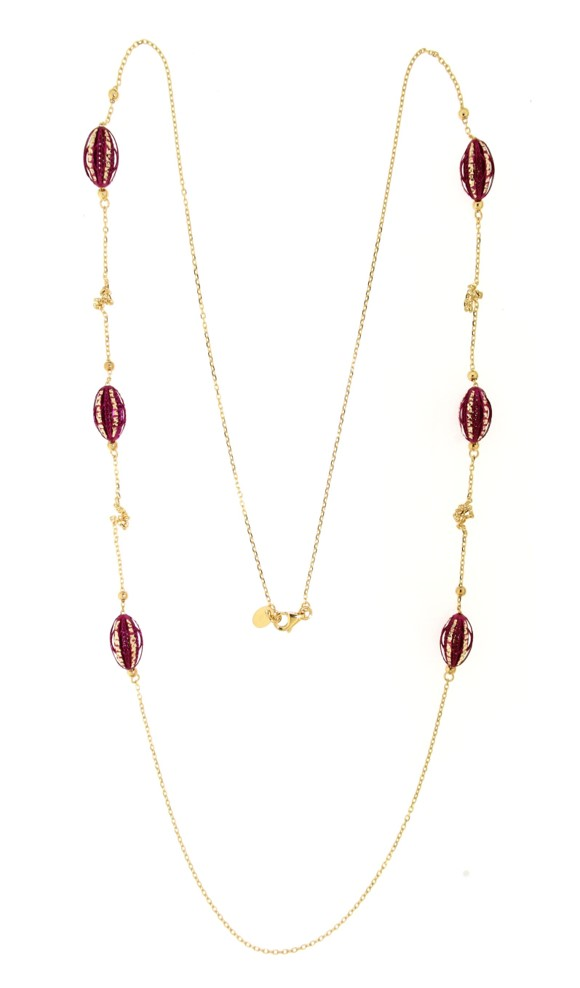 Seed Pearl Long Necklace